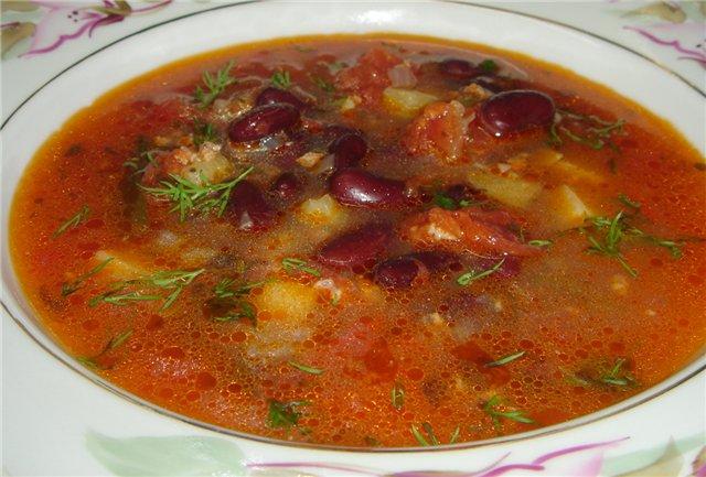 Суп с фасолью консервированной рецепты с фото пошагово